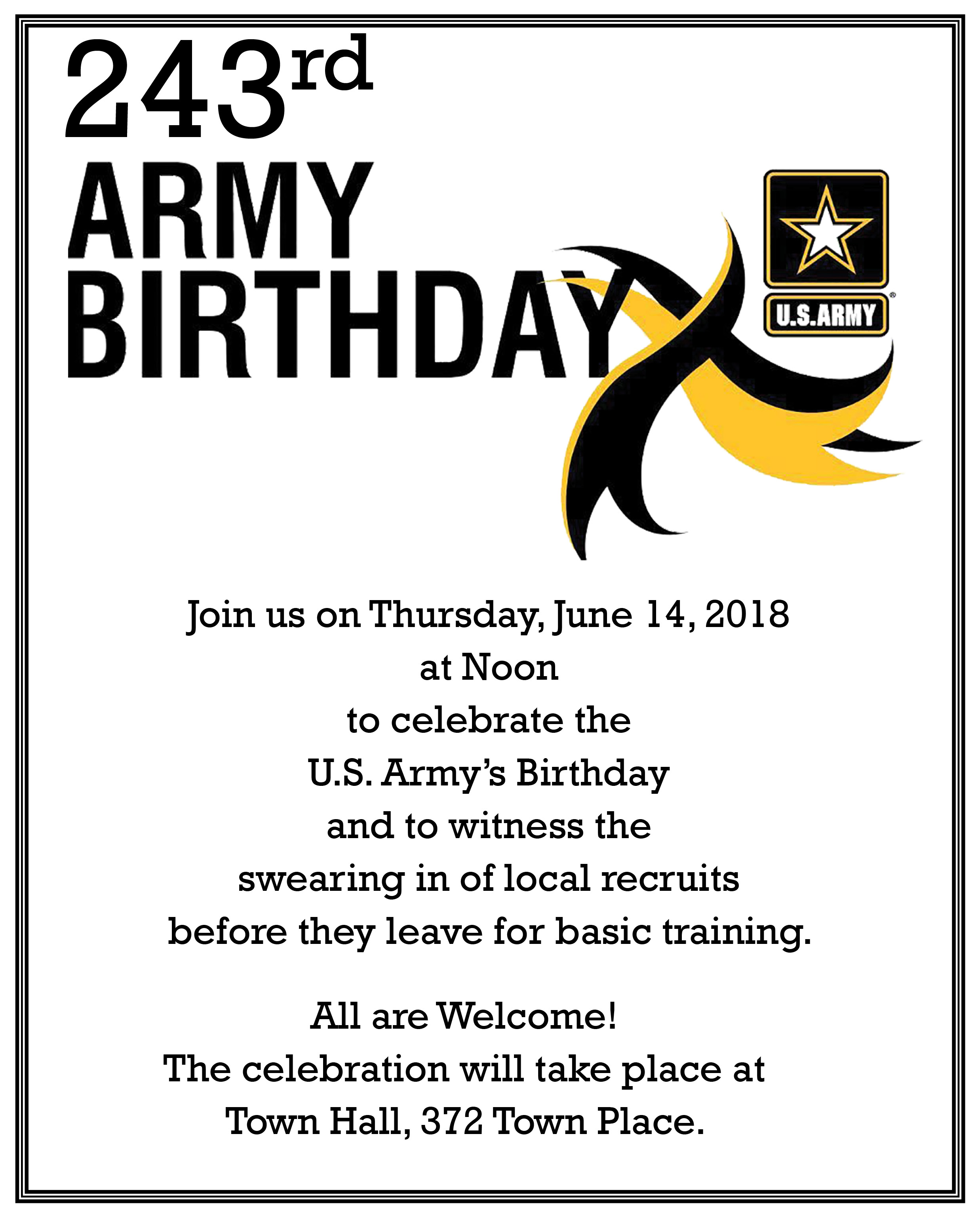 15 army birthday announcement