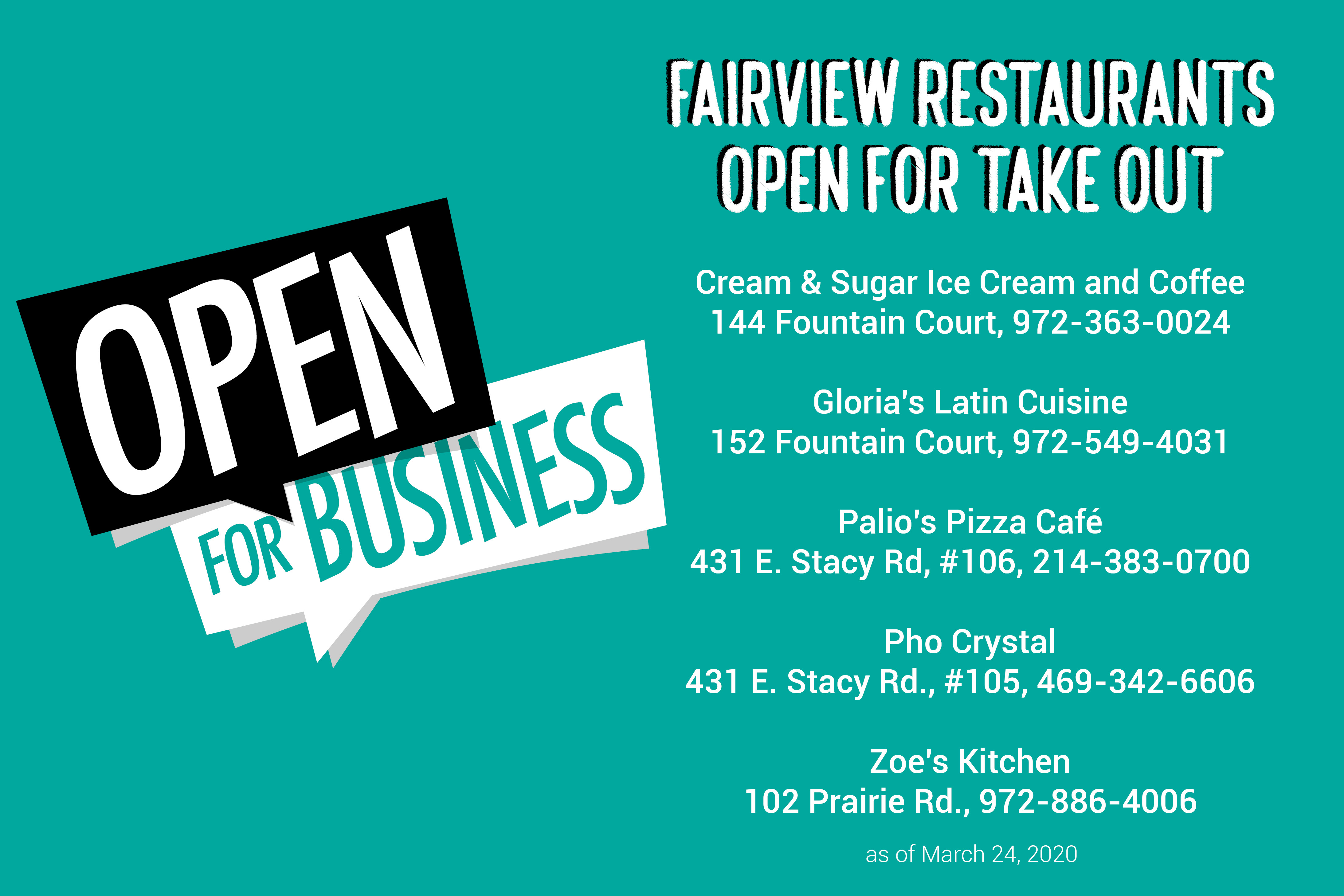 restaurants open for business graphic
